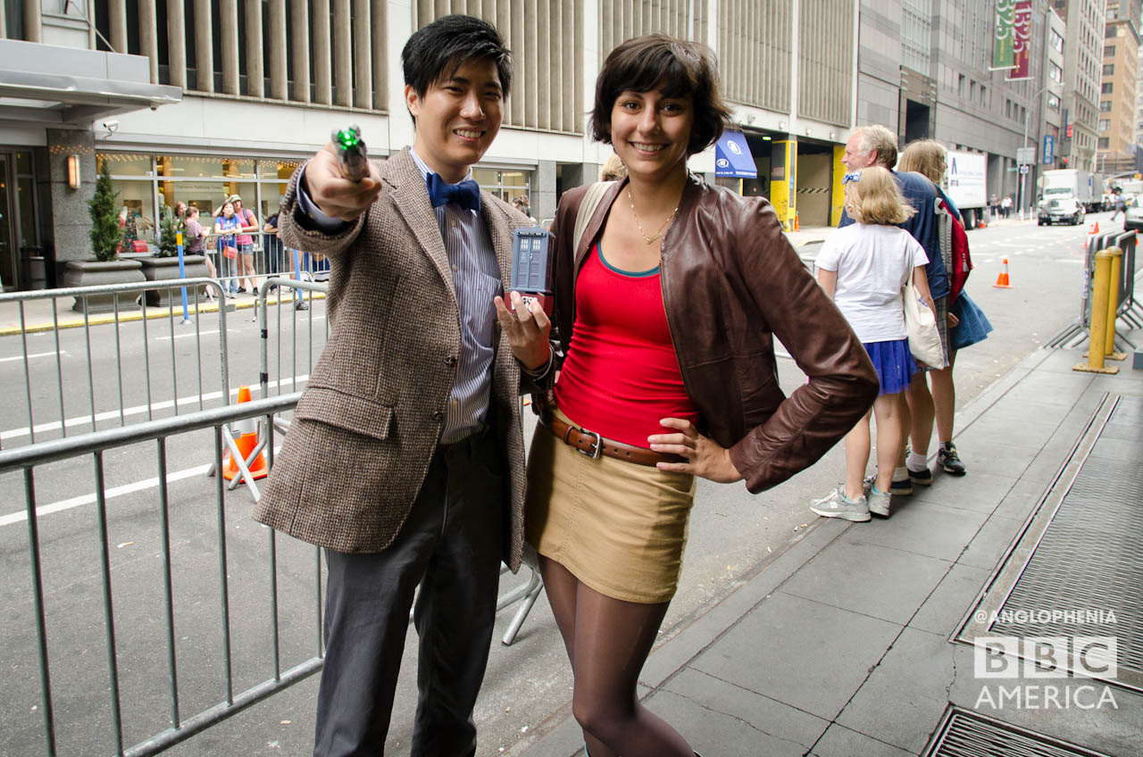 Two Whovians for the smile the camera. (Photo: Dave Gustav Anderson)