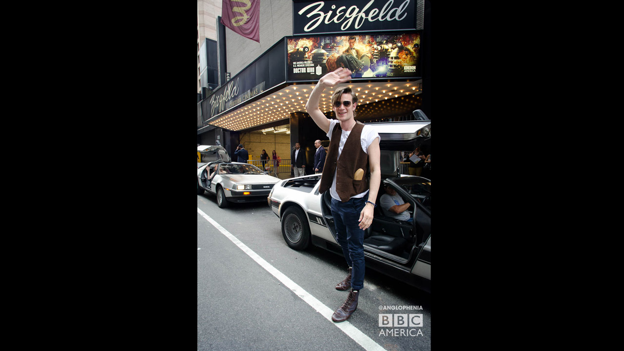 The Eleventh Doctor, Matt Smith, waves to the crowd. (Photo: Dave Gustav Anderson)