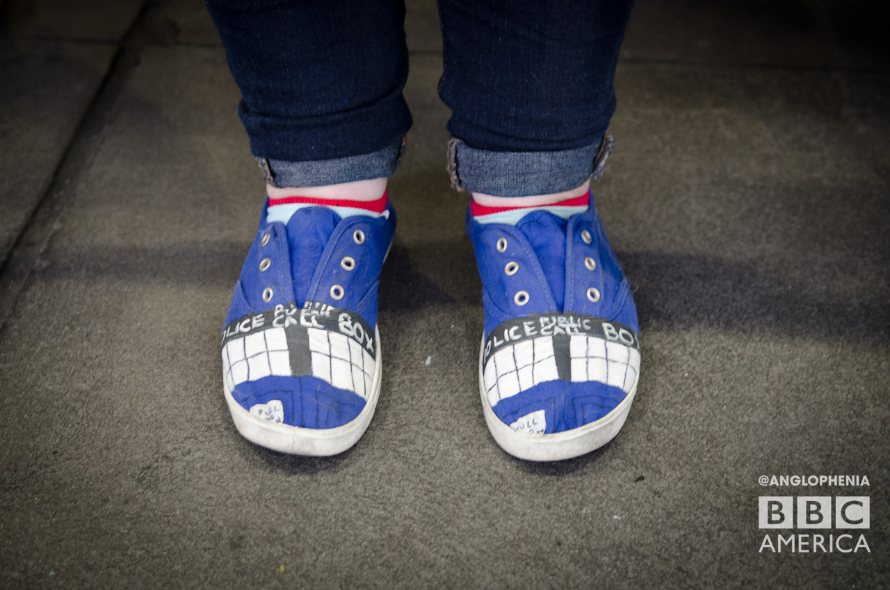 Some very cool TARDIS shoes. (Photo: Dave Gustav Anderson)