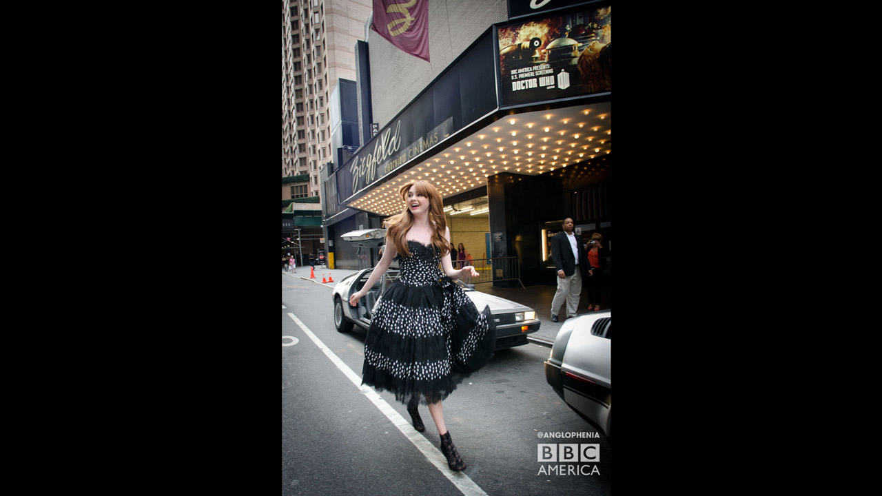 Dressed to the nines... Karen Gillan. (Photo: Dave Gustav Anderson)