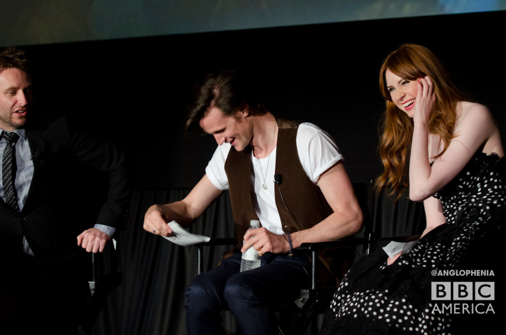 Matt Smith geeks out. (Photo: Dave Gustav Anderson)