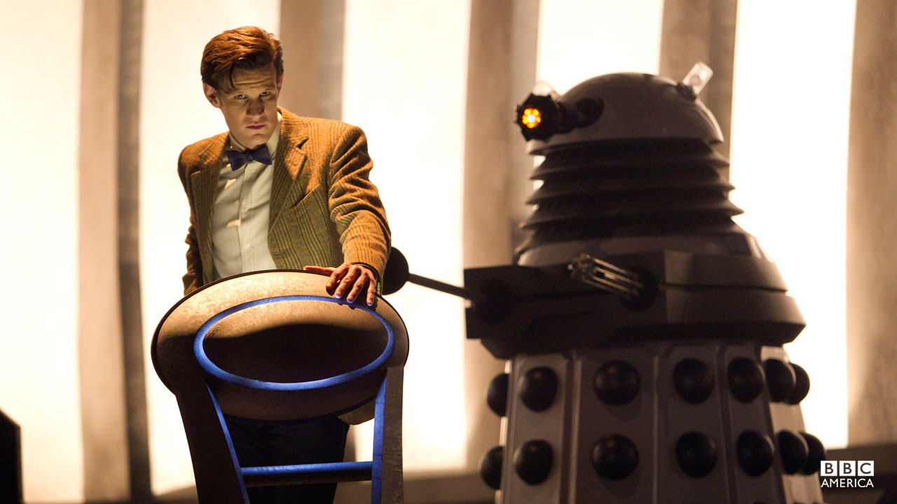 The Doctor and a Dalek.