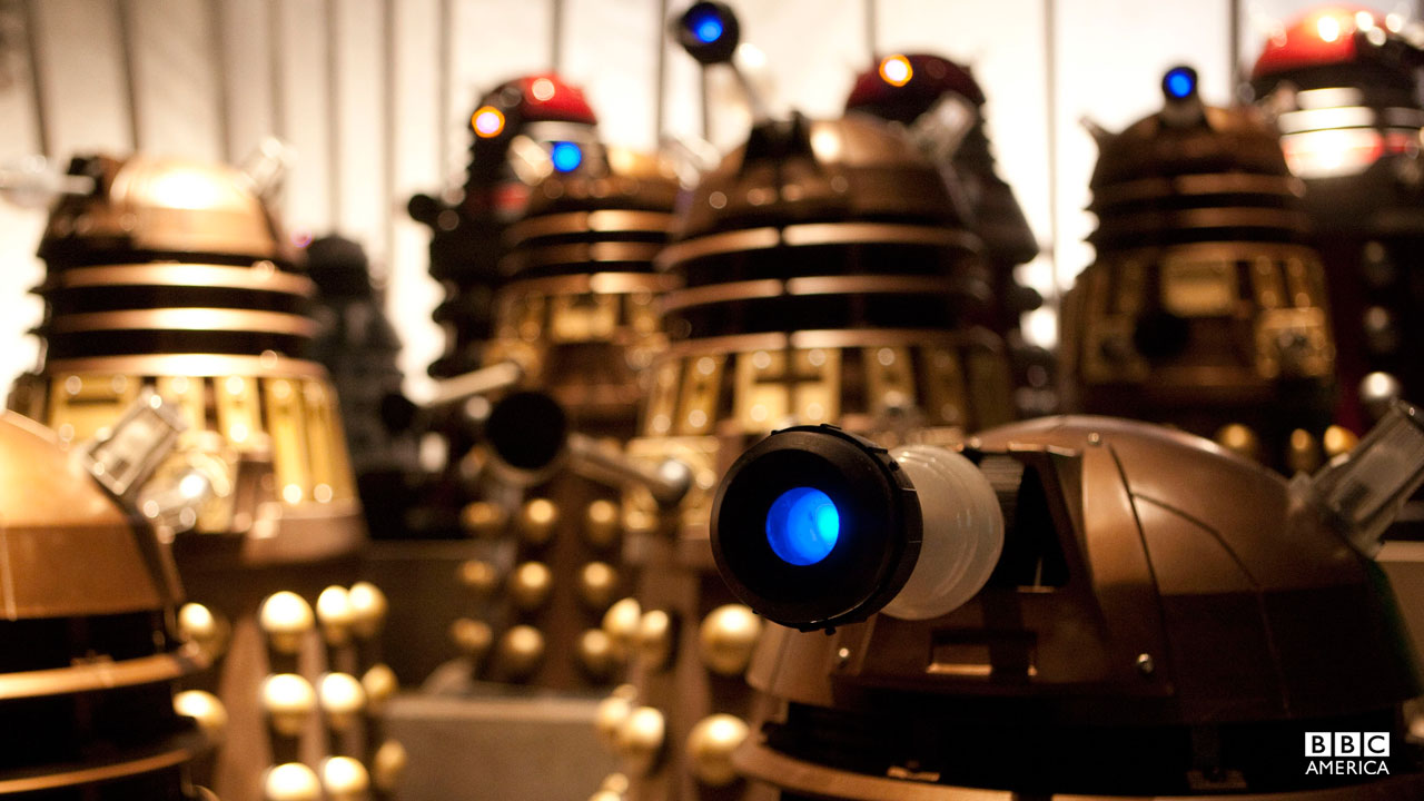 A group of Daleks.