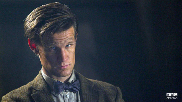 The Doctor stares intensely.