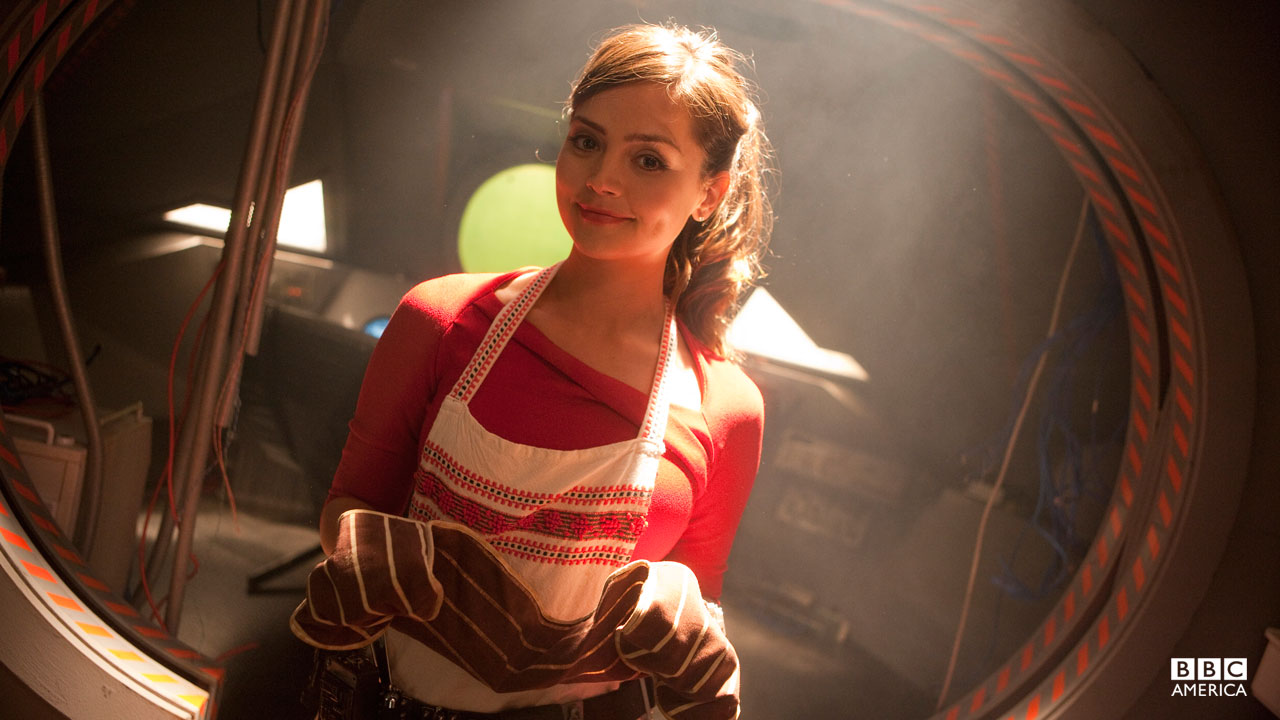 Oswin gets ready to bake a souffle.