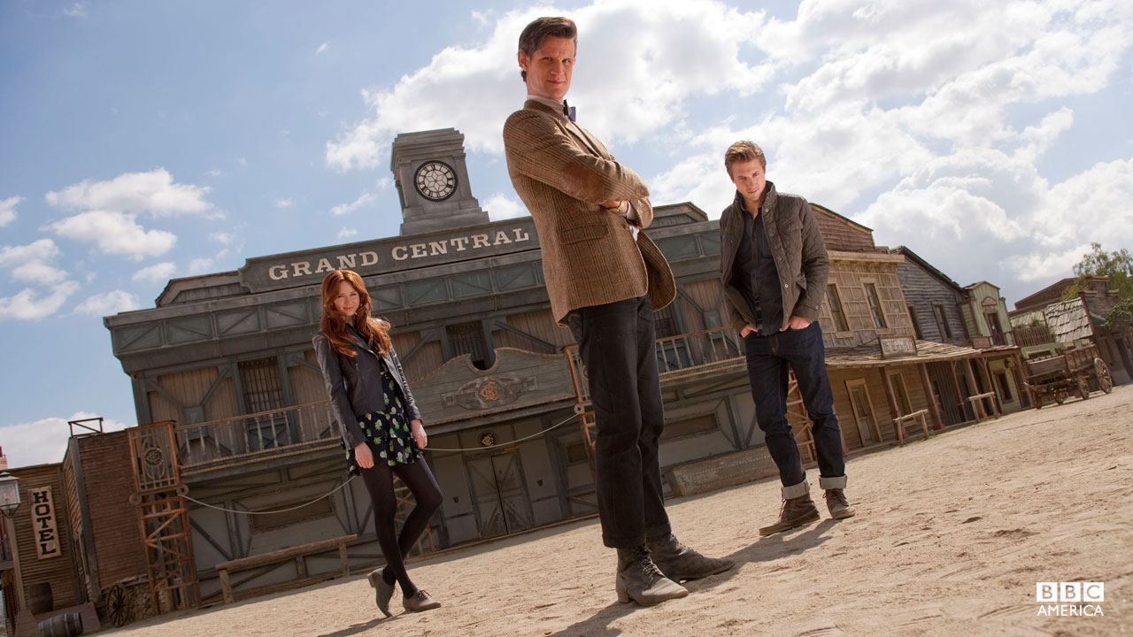The Doctor, Amy, and Rory.