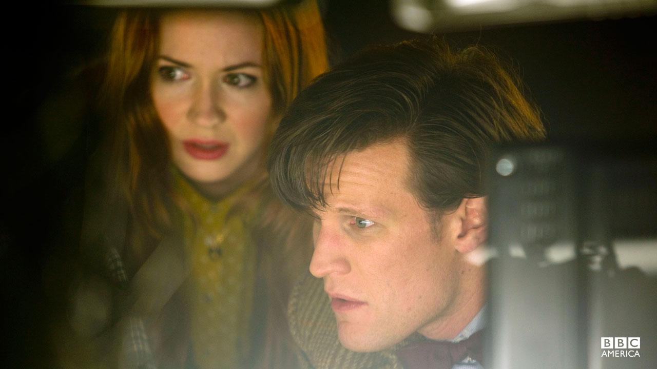 The Doctor (Matt Smith) and Amy (Karen Gillan).
