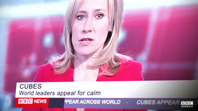 The cubes cause a stir in the media.
