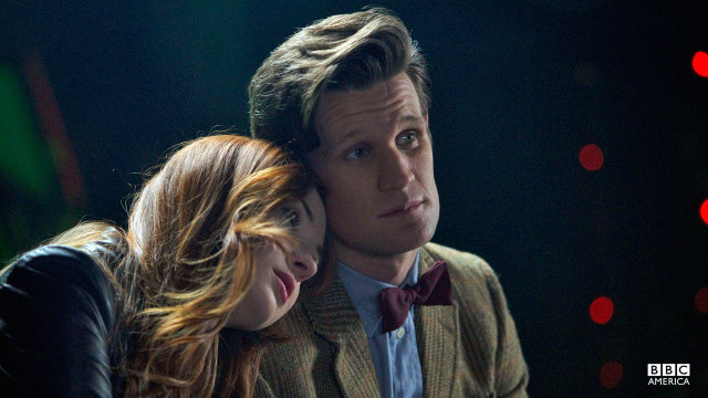 The Doctor and Amy have a personal moment with each other.
