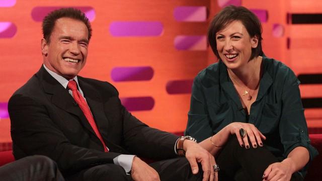 Arnold Schwarzenegger and Miranda Hart