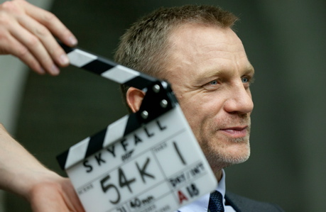 Daniel Craig on the set of 'Skyfall' (Sony Pictures)