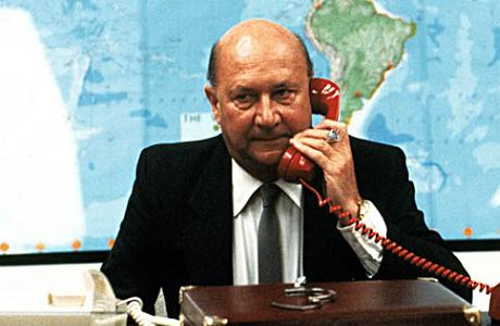 Donald Pleasence as the President of the U.S.A in 'Escape from New York' (1981). (AllMovie.com)