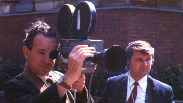 Two man news crews using the fairly new (for the period) 16-mm camera, with sound being recorded as an optical track on the film.