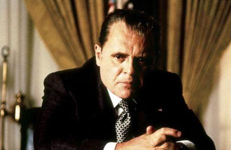 Anthony Hopkins as Richard Nixon in 'Nixon' (1995).