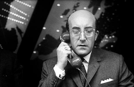 Peter Sellers as the fictional President Merkin Muffley 'Dr. Strangelove' (1964). (365Days.com)