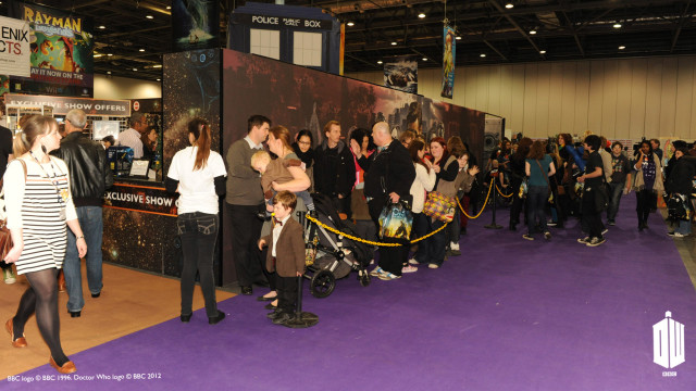 Fans line up to get their hands on some 'Doctor Who' goodies.