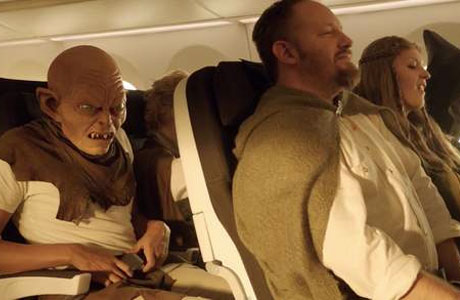 Gollum does up his seat belt
