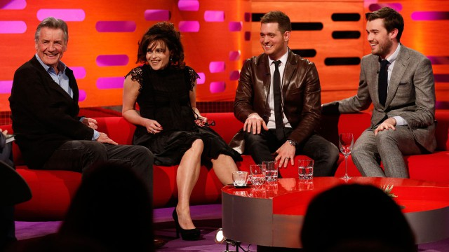 Michael Palin, Helena Bonham Carter, Michael Bublé, and Jack Whitehall bring the laughs.