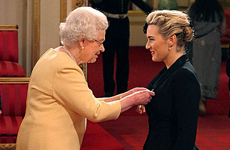 Kate Winslet meets the Queen