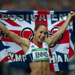 Jessica Ennis: If Gabby Douglas was the sweetheart of America's Olympic team, the midriff-baring Ennis was the pinup of Team GB, scoring gold in the grueling heptathlon. (Express Newspapers via AP Images)