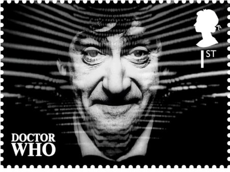 Royal Mail stamp of Patrick Troughton as the Second Doctor