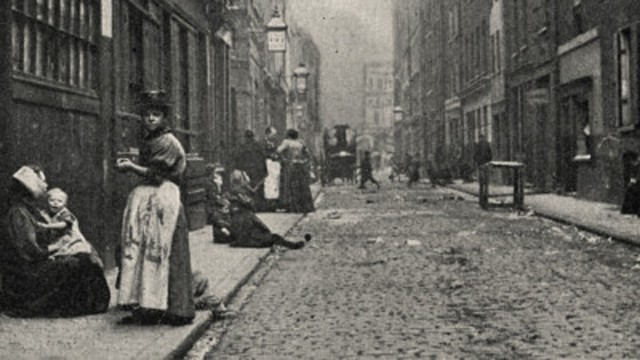 Dorset Street was so dangerous that police dare not enter in no less than groups of four.