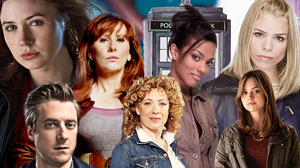 The companions: Amy, Rory, Donna, River, Martha, Rose and Clara (Pic: BBC)