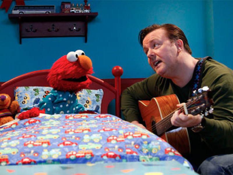 Ricky Gervais and Elmo