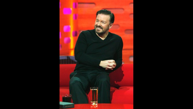 Britain's favorite comedian Ricky Gervais.