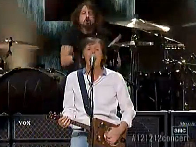 Sir Paul and Dave Grohl