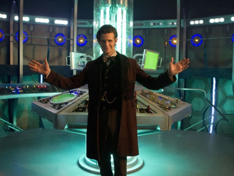 The Doctor in his new TARDIS