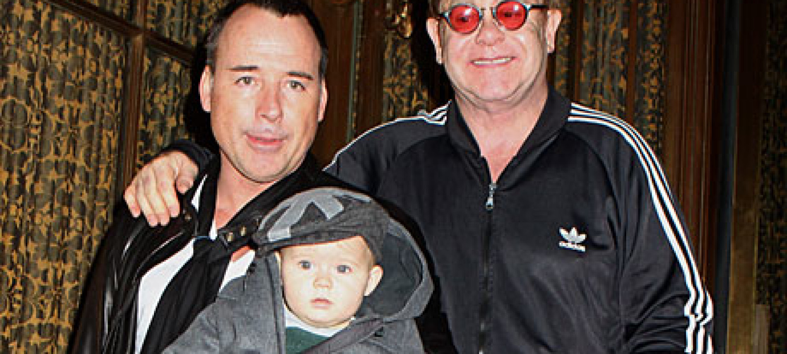 David Furnish and Sir Elton John, and their son Zachary in 2011 (AP Pictures)