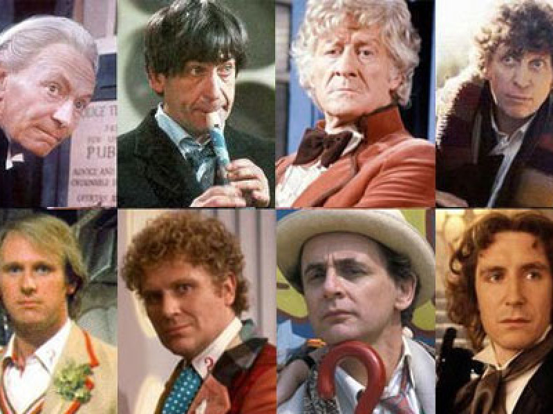 The first eight Doctors