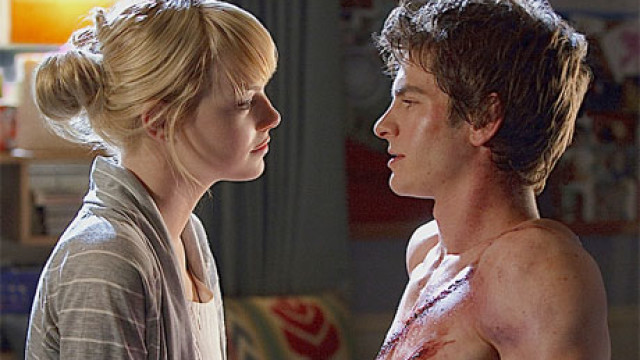 Emma Stone and Andrew Garfield in 'The Amazing Spider-Man'