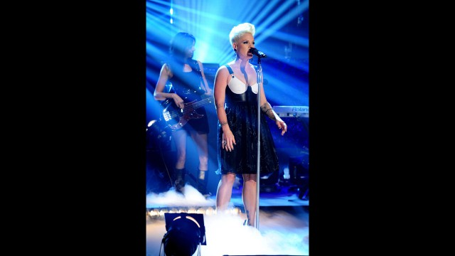 Pink wows the audience at 'The Graham Norton Show.'