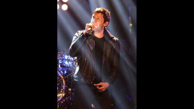 English singer and rapper Example lights up the stage at 'The Graham Norton Show.'