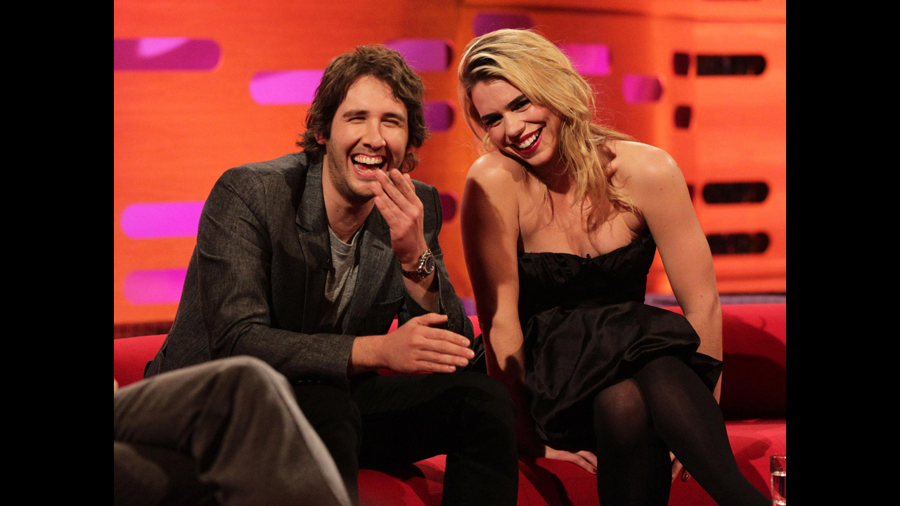 Actress Billie Piper and singer Josh Groban.