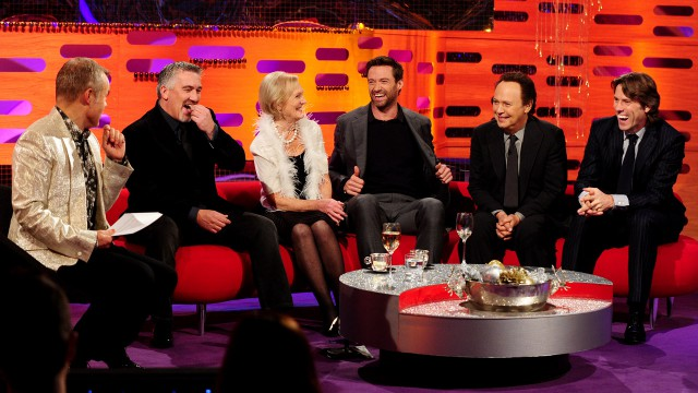 Hugh Jackman, Billy Crystal, John Bishop, Mary Berry, and Paul Hollywood ring in the New Year with Graham.