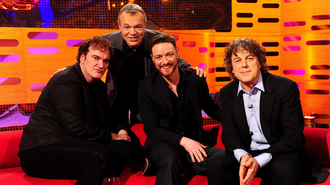 Quentin Tarantino, James McAvoy, and Alan Davies join Graham for a star-studded episode.