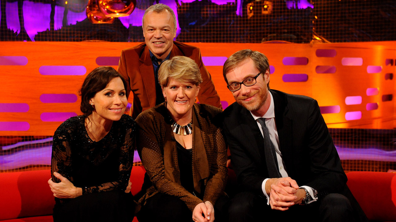 Minnie Driver, Stephen Merchant, and Clare Balding join Graham this week.