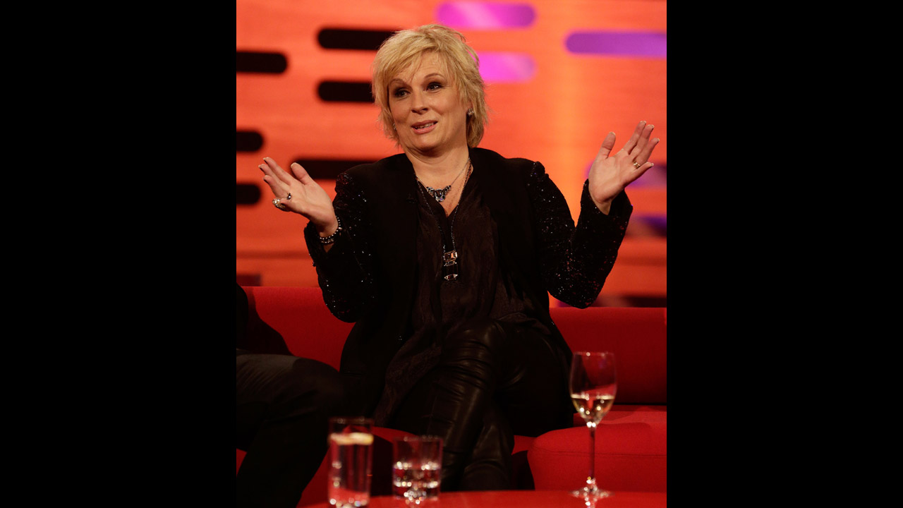'Absolutely Fabulous' creator and star Jennifer Saunders brings laughter to the set.