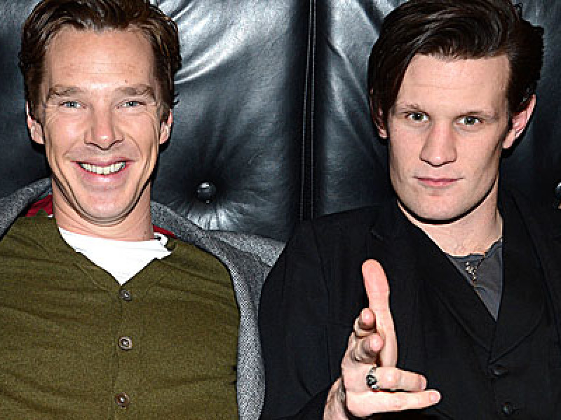 Matt Smith and Benedict Cumberbatch