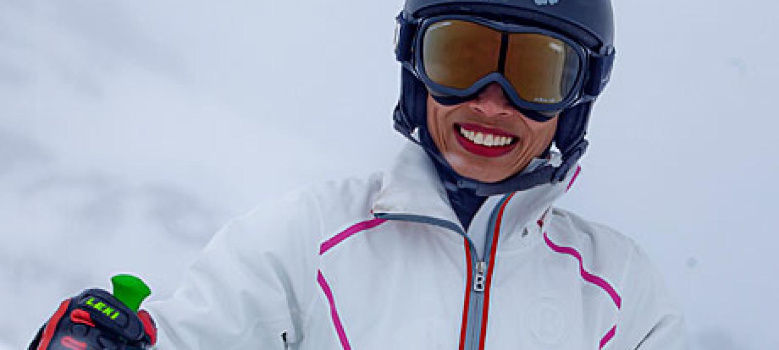 Vanessa-Mae Skiing