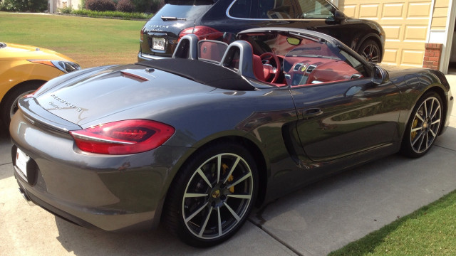 This fancy little 2013 Porsche Boxster was sent in by Tracy H.
