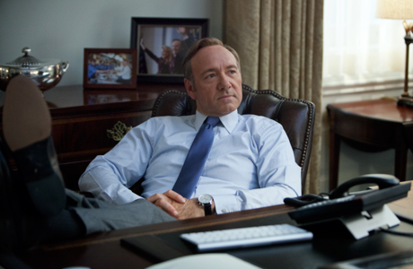 Kevin Spacey in the new Netflix series 'House of Cards' (Photo: Netflix)