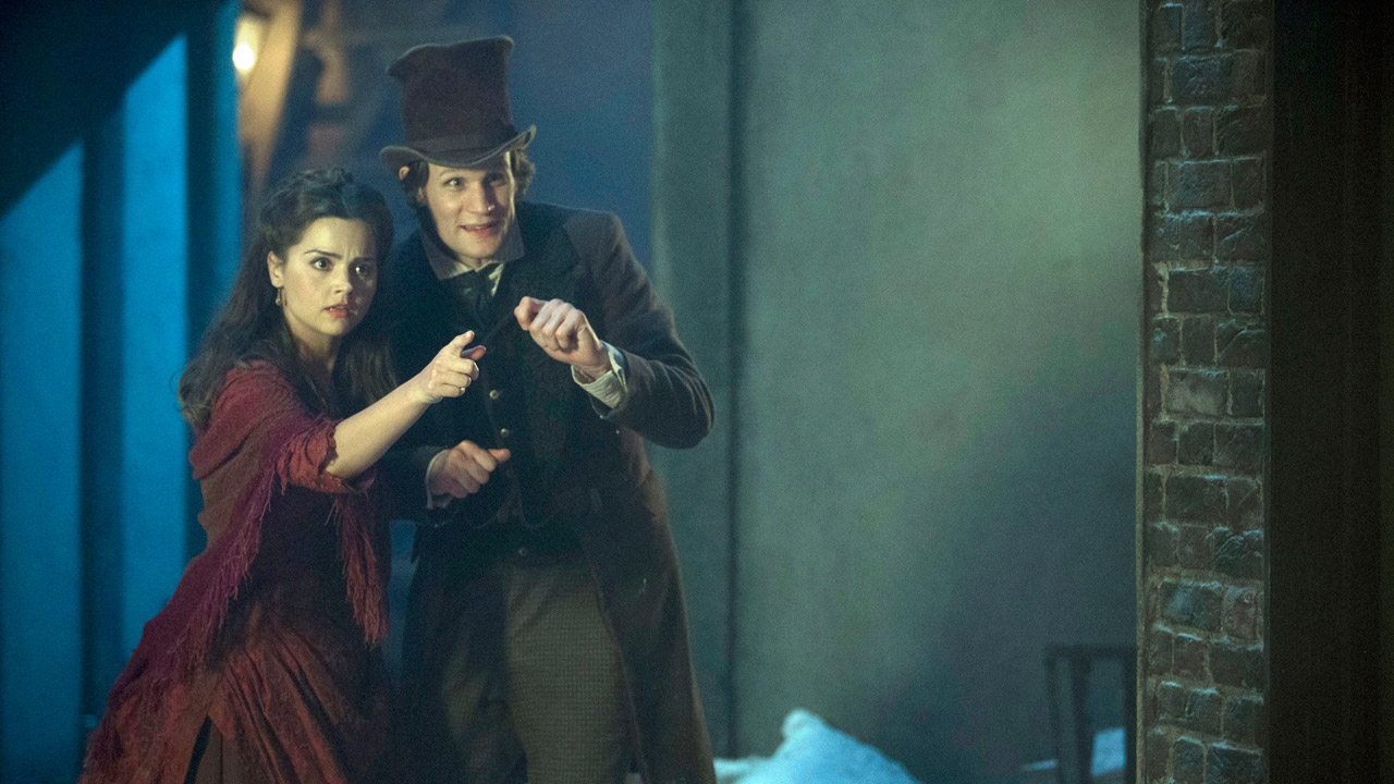 """Clara: """"What? Snow that can remember? That's silly."""" The Doctor: """"What's wrong with silly?"""" Clara: """"Nothing. I'm still talking to you aren't I."""""""