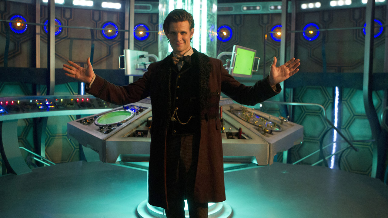"""Clara: """"It's smaller on the outside."""" The Doctor: """"Okay...that is a first."""""""