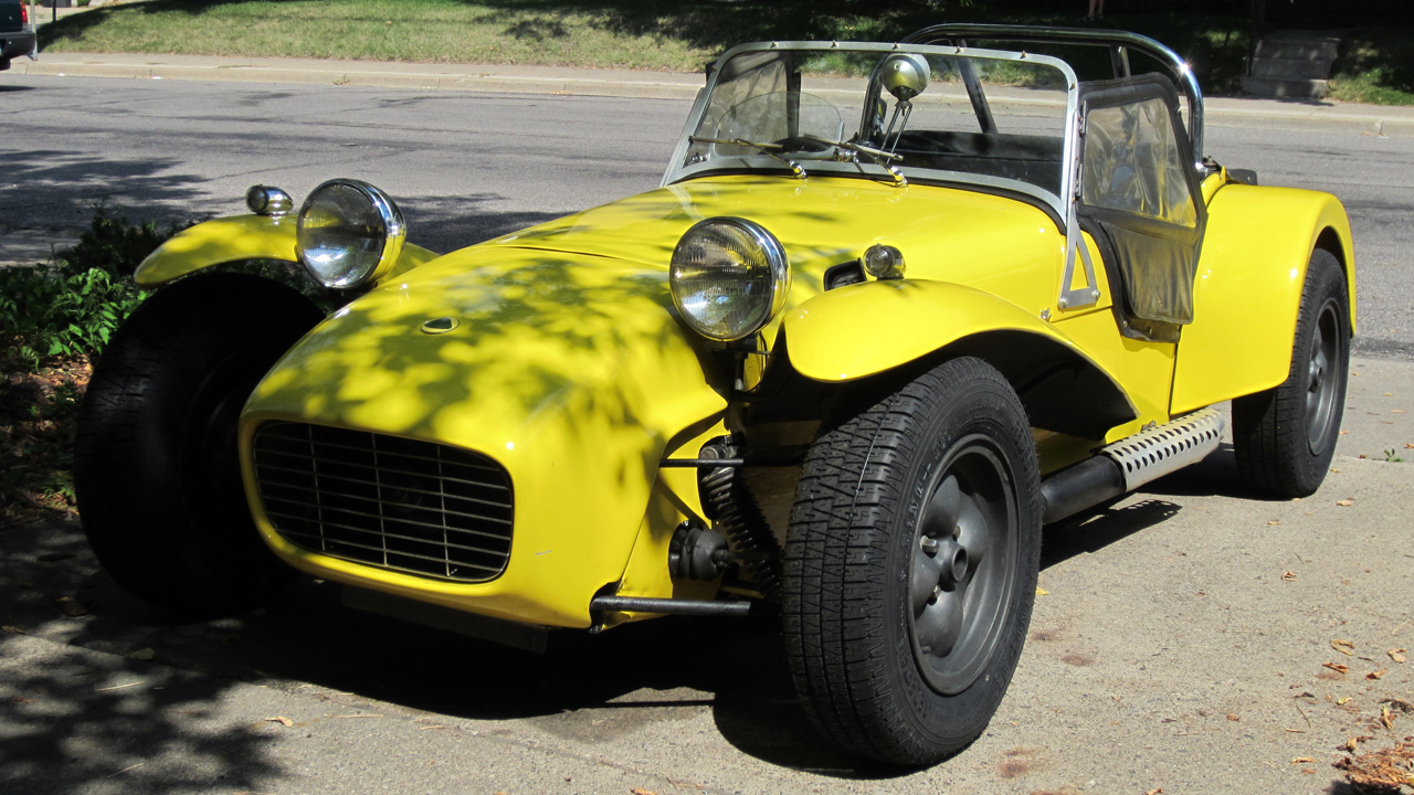 This 1961 Lotus Seven America Series 2 is a vintage race car driven by Derek T.