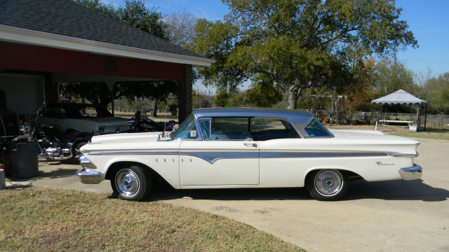 This rare vintage 1958 Edsel eventually went on to become the Comet, and then the Mustang. Sent by Don P.