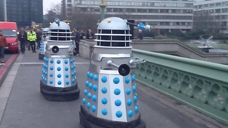 Daleks on Westminster Bridge